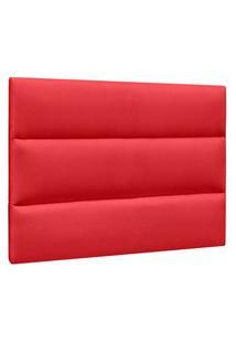 Cabeceira Painel Cama Box Solteiro 90Cm Grécia Suede Vermelho - Mpozenato