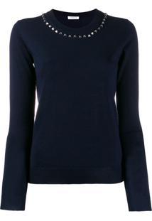 P.A.R.O.S.H. Suéter Com Aplicação De Tachas - Azul
