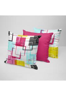Kit 3 Almofadas Decorativas Arabescos Coloridos