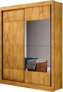 Guarda-Roupa Solteiro 2 Portas C/ Espelho Falco Gold Fosco – Novo Horizonte - Freijo Dourado