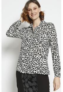 Camisa Animal Print- Branca & Pretaangel
