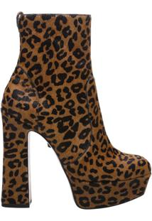 Ankle Boot Meia Pata Bold Animal Print | Schutz