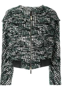 Anteprima Jaqueta De Tweed Cropped - Verde
