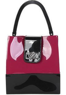 Bolsa Petite Jolie Shopper Feminina - Feminino-Preto+Vinho