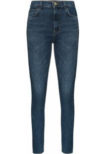 J Brand Calça Jeans Skinny Leenah Cintura Alta - Azul
