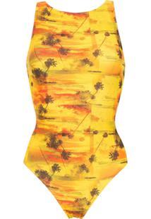 Lygia & Nanny Body 'Sirena' Estampado - Amarelo