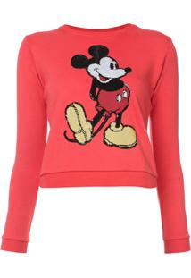 Marc Jacobs Suéter Com Bordado 'Mickey Mouse' - Vermelho