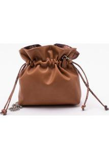 Bolsa Shoulder Bag Reversível Snake Camel - P
