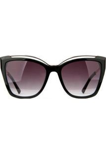 Óculos De Sol Ana Hickmann Feminino - Feminino-Preto