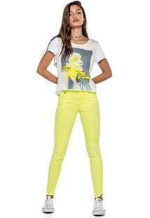 Calça Feminina Enfim Skinny Cintura Media - Feminino-Verde