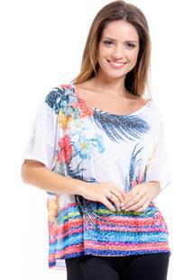 Blusa 101 Resort Wear Estampada Floral Multicolorido