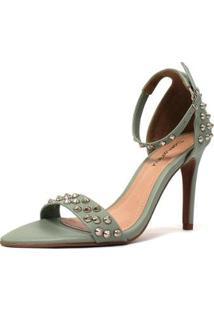 Sandália Sunny Spikes Damannu Shoes Feminina - Feminino-Verde