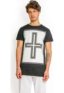 T-Shirt Wosmock Johnny Alongada - Feminino-Preto