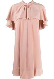 Redvalentino Ruffle Collar Dress - Rosa