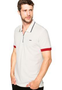 Camisa Polo Colcci Slim Zíper Off-White