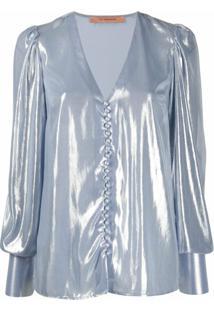 Andamane Blusa Metálica Cecilia - Azul