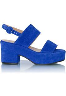 Luiza Barcelos Sandália Flatform De Tiras - Azul
