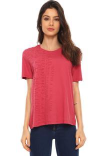 Camiseta Lança Perfume Lettering Vermelha