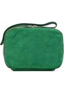 Guidi Clutch Quadrada De Camurça - Verde
