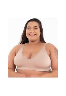 Sutiã Click Chique Básico Plus Size Conforto Marrom