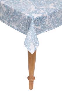 Toalha De Mesa Santista Luana Azul