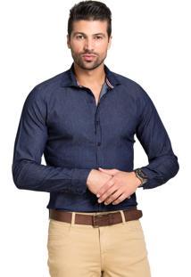 Camisa Jeans Tony Menswear Slim Com Elastano