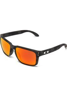 Óculos De Sol Oakley Holbrook Cinza/Laranja