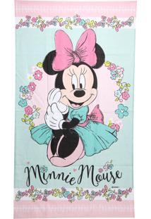 Toalha De Banho Santista Disney Minnie Liberty 70X120Cm Rosa