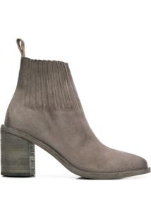 Marsèll Ankle Boot Com Recortes - Cinza