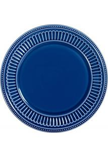 Sousplat Em Cerâmica Poppy 34Cm Azul