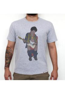 Jimi In Bathroom - Camiseta Clássica Masculina