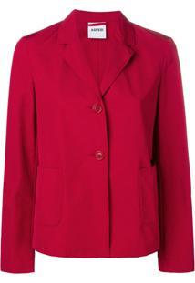 Aspesi Single-Breasted Jacket - Vermelho