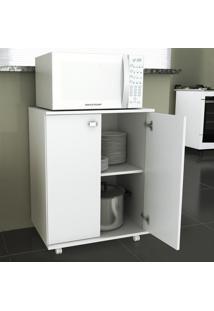 Armário De Cozinha Baixo 2 Portas 1 Prateleira Bl3300 Branco - Tecno Mobili