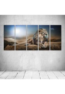 Quadro Decorativo - Lion King - Composto De 5 Quadros