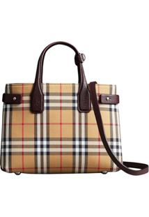 Burberry Bolsa Xadrez 'The Small Banner' - Amarelo