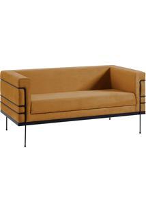 Sofá Le Corbusier 2 Lugares 2064-2 Veludo – Daf Mobiliário - Dourado