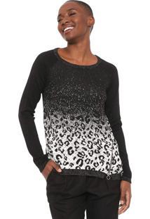 Suéter Desigual Tricot Adriana Preto