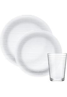 Aparelho De Jantar Nadir Diamante Em Vidro 12 Peças Unica