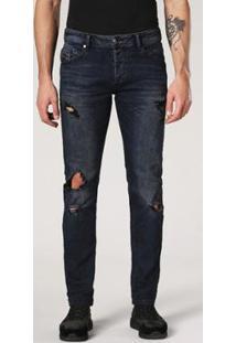 Calça Diesel Belther Masculina - Masculino-Jeans