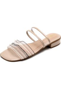 Tamanco Dafiti Shoes Tiras Nude