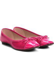 Sapatilha Moleca Biqueira E Lacinho Feminina - Feminino-Pink
