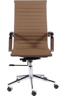 Cadeira Office Eames Esteirinha- Caramelo- 110X61X46Or Design