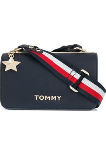 0d9dfecc1 Tommy Hilfiger Bolsa Transversal Com Parte Superior Dobrável - Azul
