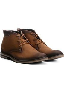 Sapato Casual Couro Pegada Masculino - Masculino-Marrom