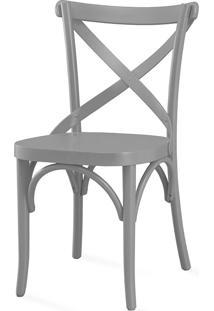 Cadeira Para Sala De Jantar Madeleine Laca Cinza Concreto - 50X54,5X86 Cm