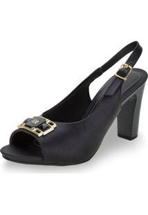 Sapato Feminino Chanel Piccadilly - 614025 Preto 01 34
