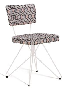 Cadeira Butterfly Retro Aço Daf Cinza/Bege