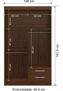 Guarda-Roupa 4 Portas Decibal Rp2420 Com Espelho Caccau Se