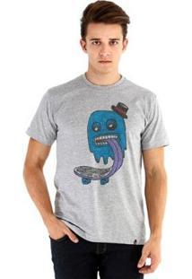 Camiseta Ouroboros Manga Curta Blue Ghost Skater - Masculino-Cinza
