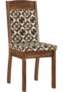Conjunto Sala De Jantar Mesa Com 6 Cadeiras Valencia Sonetto Móveis Rústico